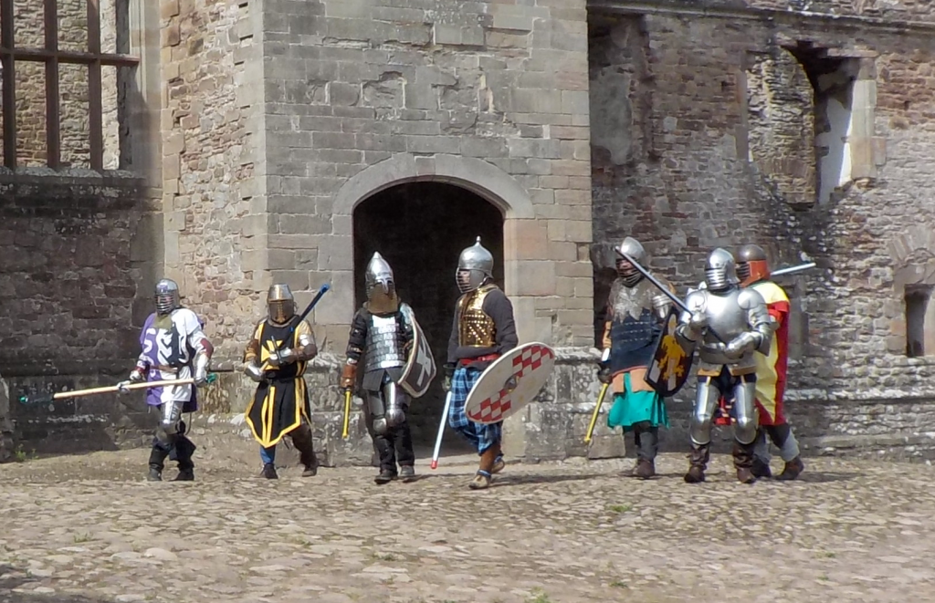 Me second from right: the little guy in silver armour with the big sword