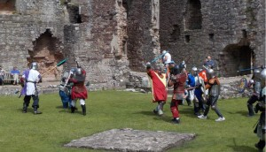 Skirmish in the fountain court